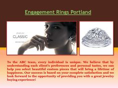 Let your stunning diamond ring symbolize your journey of love. Whether you choose a classic diamond solitaire, a sparkling three-stone ring or a sprinkle of diamonds to form a cluster, you'll be mesmerized by the sparkling collections at most of the . Jewelry Shop, Jewelry Stores, Custom Jewelry Design, Custom Design, Personal Taste, Diamond Rings, Portland, Conditioner, Bring It On