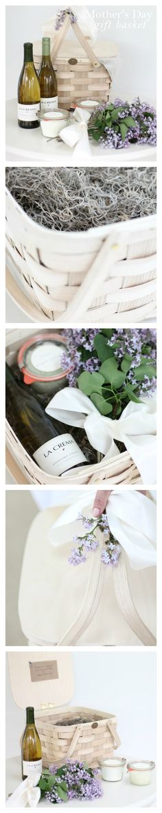 Give mom the gift of relaxation with this easy & beautiful thoughtful gift basket filled with do-it-yourself ideas.