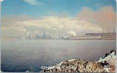 """Provo, Utah Postcard """"GENEVA STEEL PLANT"""" Cooling Pond Vi... - bidStart (item 56188805 in Postcards... Provo)"""