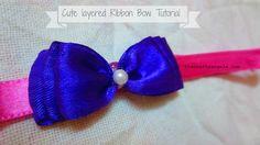 Cute Layered Ribbon Bows Tutorial  #12 tutorial ribbon craft ribbon bows Headband DIY bows baby stuff