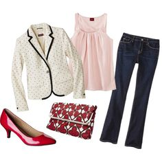 """""""Cute & Sassy on a budget from Target"""" - I have the polka dot blazer already! :)"""