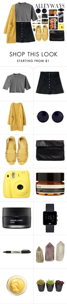 """""""Untitled #1494"""" by dear-scone ❤ liked on Polyvore featuring Abercrombie & Fitch, The Row, Mimi Loves Jimi, Nelly, Aesop, adidas, Koh Gen Do, Braun, Sharpie and Jura"""