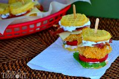 How-To: Chicken n' Waffles Sliders - Junk food know, but I want to try this!