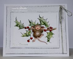 Heather's Haven: House Mouse & Friends.............All White !! Featuring the Chin Up image from Stampendous. #Stampendous #HouseMouseDesigns