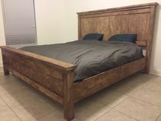 Not bad for a first project! King Farmhouse Bed