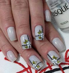 Película feita por me 💅😍 . Mani Pedi, Manicure And Pedicure, Colorful Nail Designs, Nail Art Designs, Flower Nail Art, Nail Arts, Glitter Nails, You Nailed It, Nail Colors