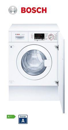 Lave-linge frontal - 60cm - tout intégrable | Capacité : 1 à 7kg | Volume du tambour : 52L