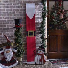 santa wood plank plaque - Christmas Decor Outside