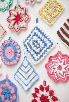 Crochet Potholders.
