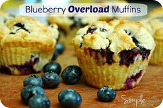 a simple real food recipe :: blueberry overload muffins :: gluten free with other allergen free options by theSIMPLEmoms, via Flickr