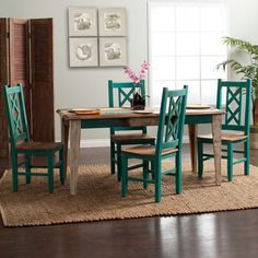 Bombay 7pc Dining Set: Table & 6 Side Chairs | Jerome's Furniture