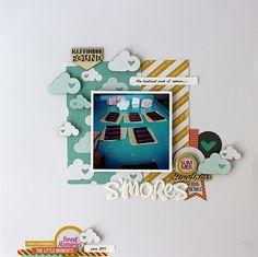 Chic Tags and me Mandy Kay Starner www.heyheymandykay.com   #layout #scrapbook