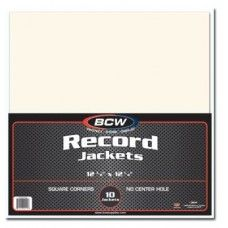 Pack 10 Bcw Paper Record Jackets 33 Rpm Size No Hole Record Jacket Records 10 Things