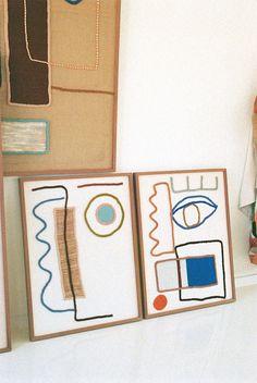 lrnce-textiles-framedworks-lecouple- Wooden Frames, Textiles, Colours, Wool, Canvas, Couples, Vermont, Design, Art