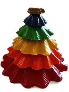 Crayon Christmas tree teacher gift toddler toy stocking stuffer