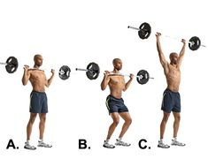 Push press....another great core lift to build strength throughout your entire body!