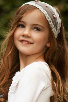 Cute girl with a pretty headband