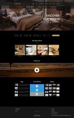 Black & Gold wonderful Design #Hotel #Website #Sketch Template Download