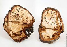 Купить или заказать Часы настенные на капе в интернет магазине на Ярмарке Мастеров. С доставкой по России и СНГ. Срок изготовления: 1-2 рабочих недели. Материалы: Карельская берёза, часовой механизм. Размер: Диаметр от 370-470 мм
