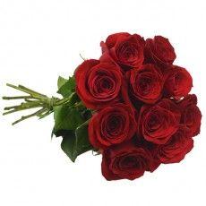 10 rosas colombianas vermelhas