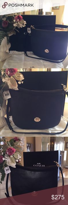 ❤🌹NEW AUTHENTIC COACH BAG New authentic Coach hobo style bag in black..all leather..2 different straps..2 different compartments..brand new with tags..refer to pics Coach Bags Hobos