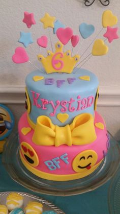 Amy's Crazy Cake - Emoji Birthday Cake