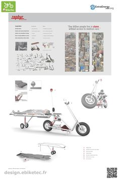 eBikeTec design contest public voting project: Zyphr Rescue Scooter name: Gregory Hayter Scooter Design, Electric Scooter, Industrial Design, Transportation, Public, Industrial By Design