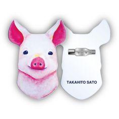 サトウタカヒトオリジナルの動物イラストを用いたブローチ。全14種類。アクリルの内側に印刷しているため、引っかいたりしても剥がれません。※2/25から先行販売し...|ハンドメイド、手作り、手仕事品の通販・販売・購入ならCreema。