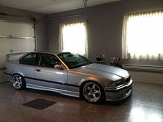 Silver BMW e36 on JDM'ish Work Meister S1 wheels