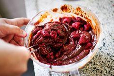 Foodblogswap: Hemelse brownietaart met frambozen