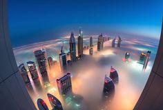 Fog Over Dubai Buildings Photography_0 – Fubiz™