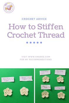 How to stiffen crochet thread