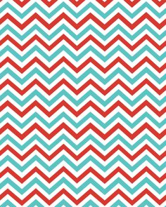 Peppermint chevron download - free printable
