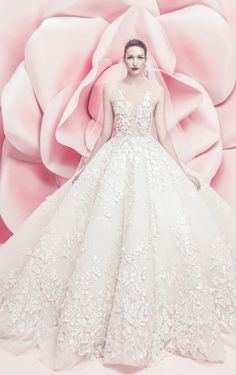 Featured Dress: Michael Cinco; Wedding dress idea.