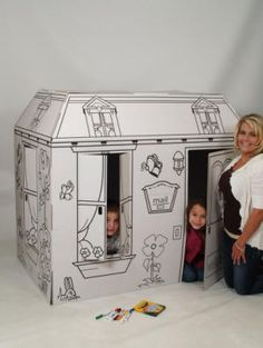 My Favorite Playhouse - pre-printed cardboard playhouse