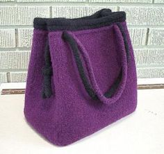 Knitted Bags, Felted Bags, Hobo Bag Patterns, Retail Bags, Knitting Patterns, Crochet Patterns, Sweet Bags, Felt Purse, Fabric Bags