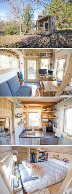 I remember falling in love with the idea of living in a tiny house last  Christmas while back in Michigan. I was watching tv with my mom and sister  watching whatever was on HGTV when a show about Tiny House's came on. I  suddenly became enthralled with this small house on wheels.  I became swept up in the romantic idea of moving wherever you wanted with  your home right behind your truck. Boston one day, Cali the next? Done. We  continued to watch the show and I loved the idea of living…