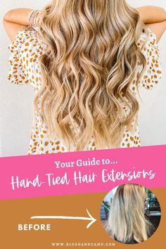 Don't you just love before and after pictures? I know I do! Today I'm answering all your questions about hand-tied extensions! How long will they last? Did it hurt? All this and more!  #handtiedextensions #beforeandafter #questionsanswered #howtostyle