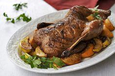 AZ Cookbook - Food From Azerbaijan & Beyond » Roast Duck with Pomegranate-Honey-Orange Glaze