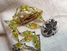 Glistening Lotus PMC Lotus Pendant Chakra Jewelry by LindaGeez