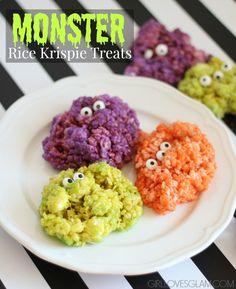 Monster Rice Krispie Treats on www.girllovesglam.com