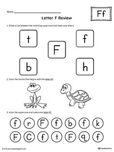 All About Letter F Printable Worksheet Worksheet.Learn and practice identifying the letter F and it's beginning sound in this printable worksheet.