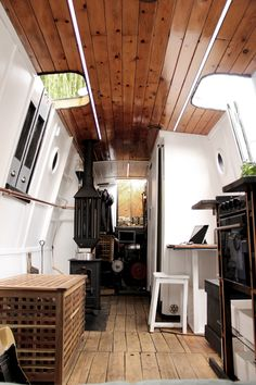 London-based designer Marco Monterzino has converted a 36ft canal ice breaker dating back to 1908 into a luxurious miniature dwelling.