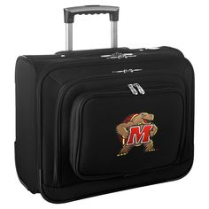 NCAA Maryland Terrapins Mojo Wheeled Laptop Overnighter Suitcase d4b446a0f