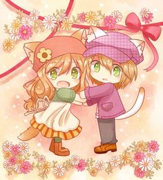 Minori & Cam as kitties Story of Seasons Harvest Games, Harvest Moon Game, Story Of Seasons, Rune Factory 4, Farm Games, Moon Lovers, Cute Chibi, Anime Couples, Game Art