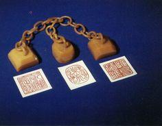 Henry Puyi's (Xuantong Emperor's) jade seals and imprints.