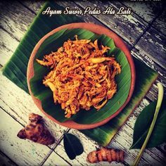Ayam Suwir Pedas Ala Bali Ketogenic Recipes, Keto Recipes, Cooking Recipes, Cooking Time, Baby Food Recipes, Chicken Recipes, Dinner Recipes, Drink Recipes, Indonesian Cuisine