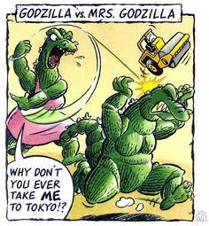 Mrs. Godzilla-the only opponent Godzilla cannot defeat