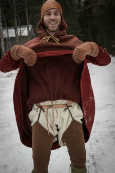 Viking reenactor showing off his hose. If you've ever wondered about what went underneath....