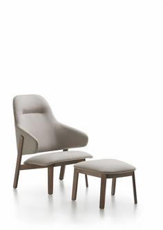 Wolfgang Lounge with High Back by Luca Nichetto for Fornasarig.
